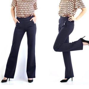 Betabrand dressy yoga pant six button boot cut XL